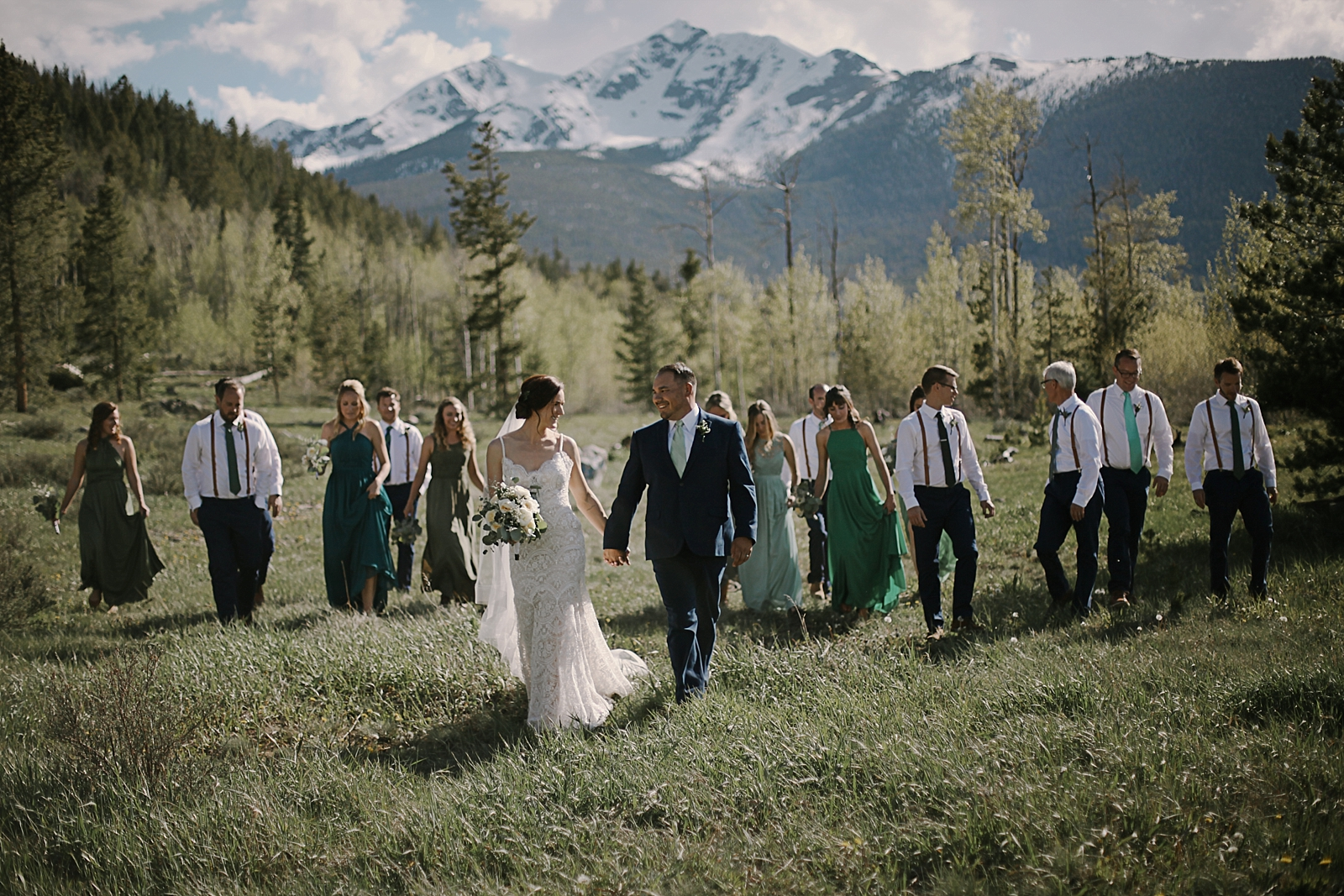 bridal party at agape, the church at agape outpost wedding, breckenridge colorado wedding, breckenridge colorado wedding photographer, agape outpost wedding photographer