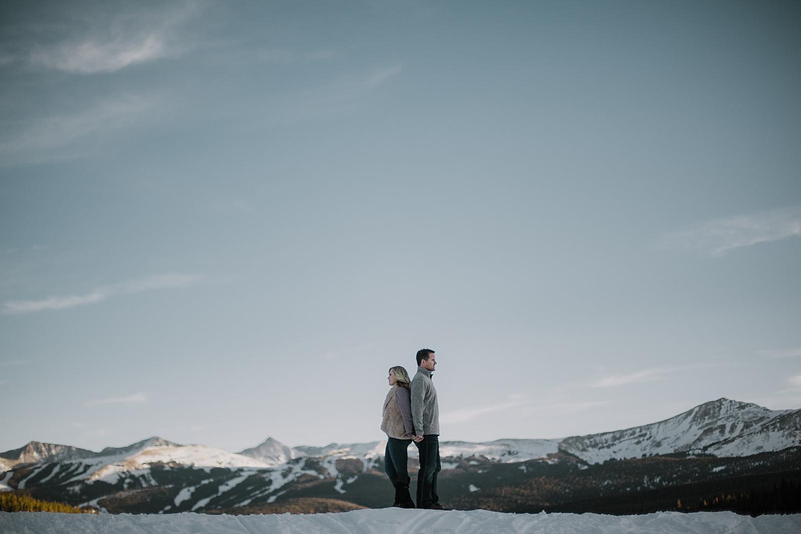 hiking couple, adventurous engagements, adventurous colorado wedding photographer, colorado wedding photographer, red cliff wedding photographer, leadville wedding photographer