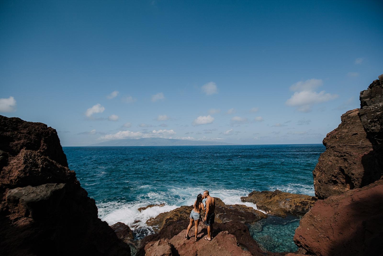 adventurous couple, lahaina wedding photographer, maui wedding photographer, adventurous wedding photographer, hawaiian wedding photographer, tide pools