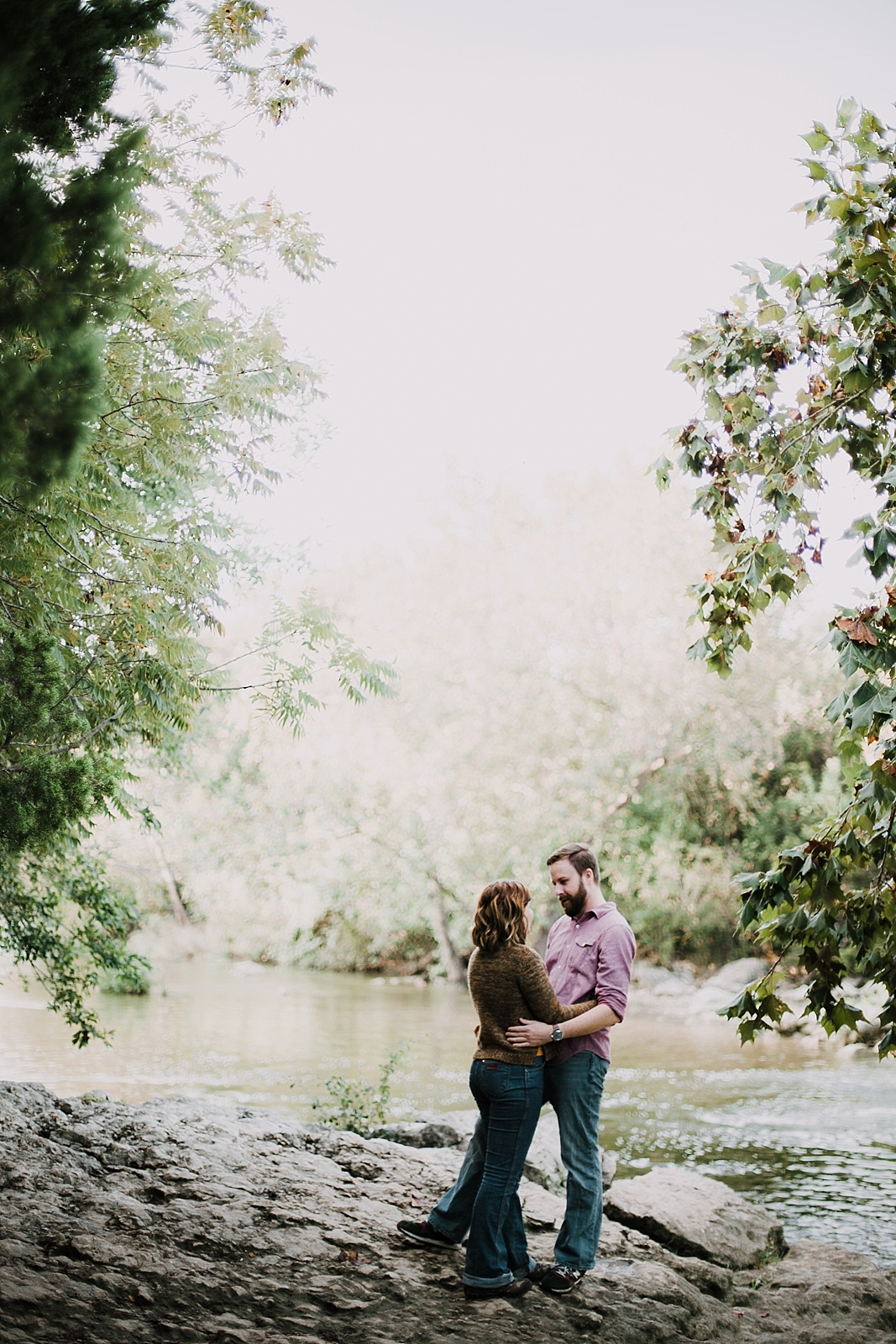 couple in the green belt, hiking engagements, austin texas wedding photographer, austin texas engagements, green belt engagements, green belt wedding photographer