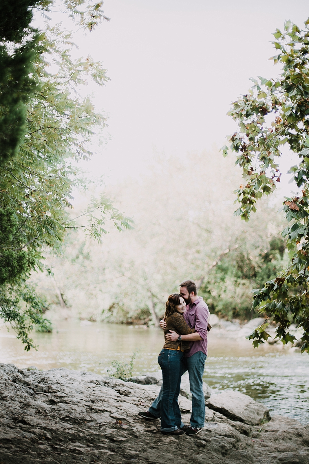 couple in green belt, hiking engagements, austin texas wedding photographer, austin texas engagements, green belt wedding photographer