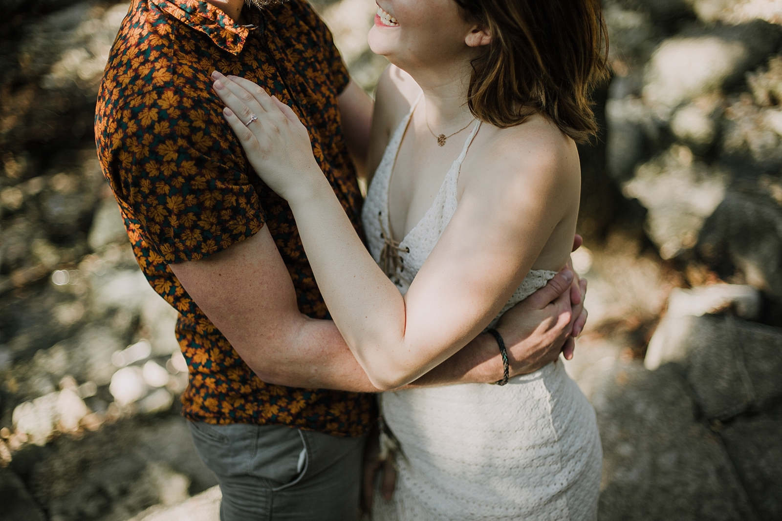 couple in the woods, green belt engagements, green belt austin engagements, austin texas engagements, austin texas wedding photographer