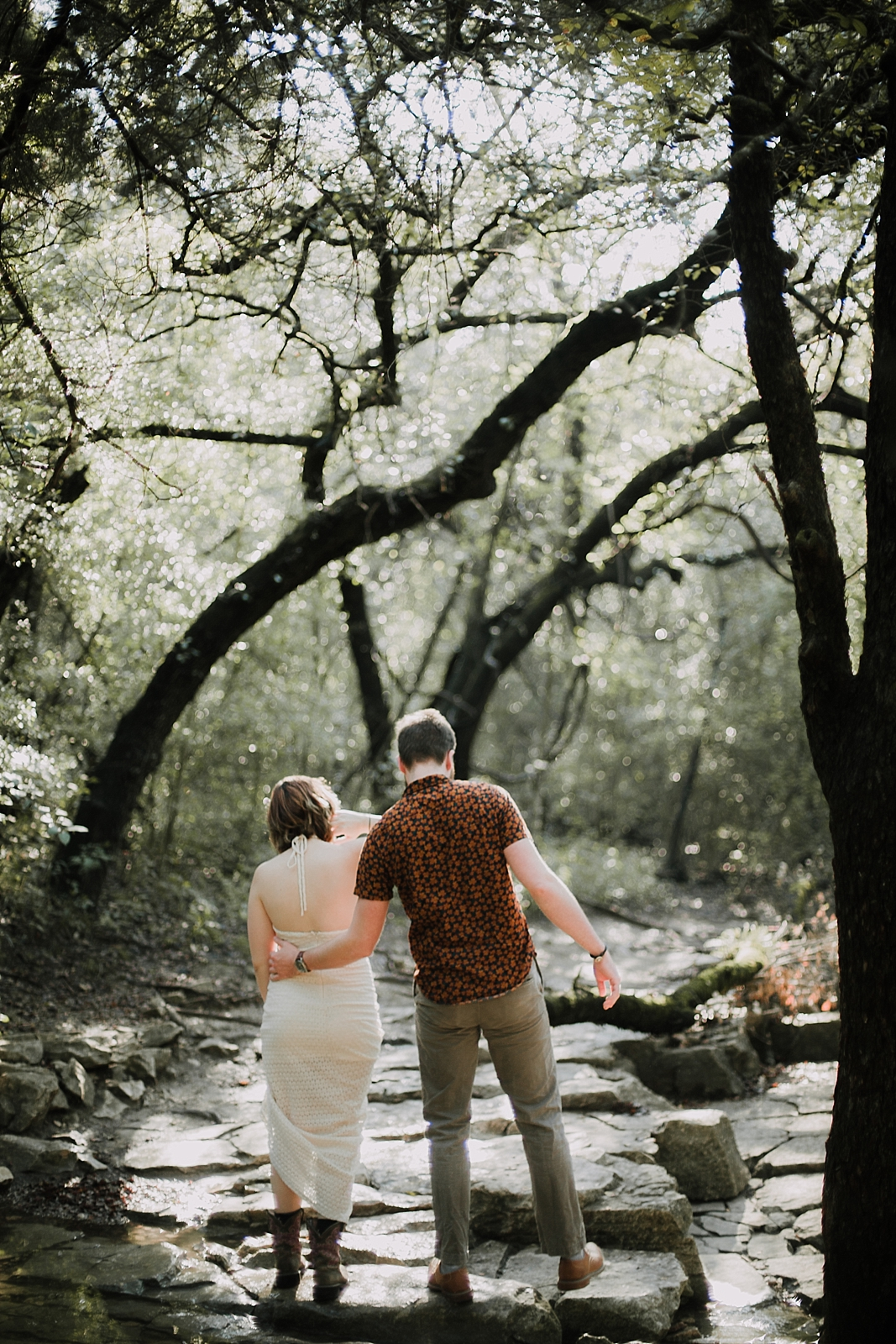 couple hiking in forest, austin texas wedding photographer, south africa wedding photographer, dripping springs texas wedding photographer, paris france wedding photographer