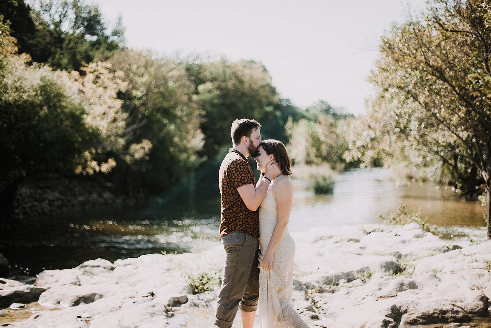 couple hiking in the green belt, austin texas wedding photographer, dripping springs wedding photographer, the alexander at creek road wedding photographer, paris france wedding photographer