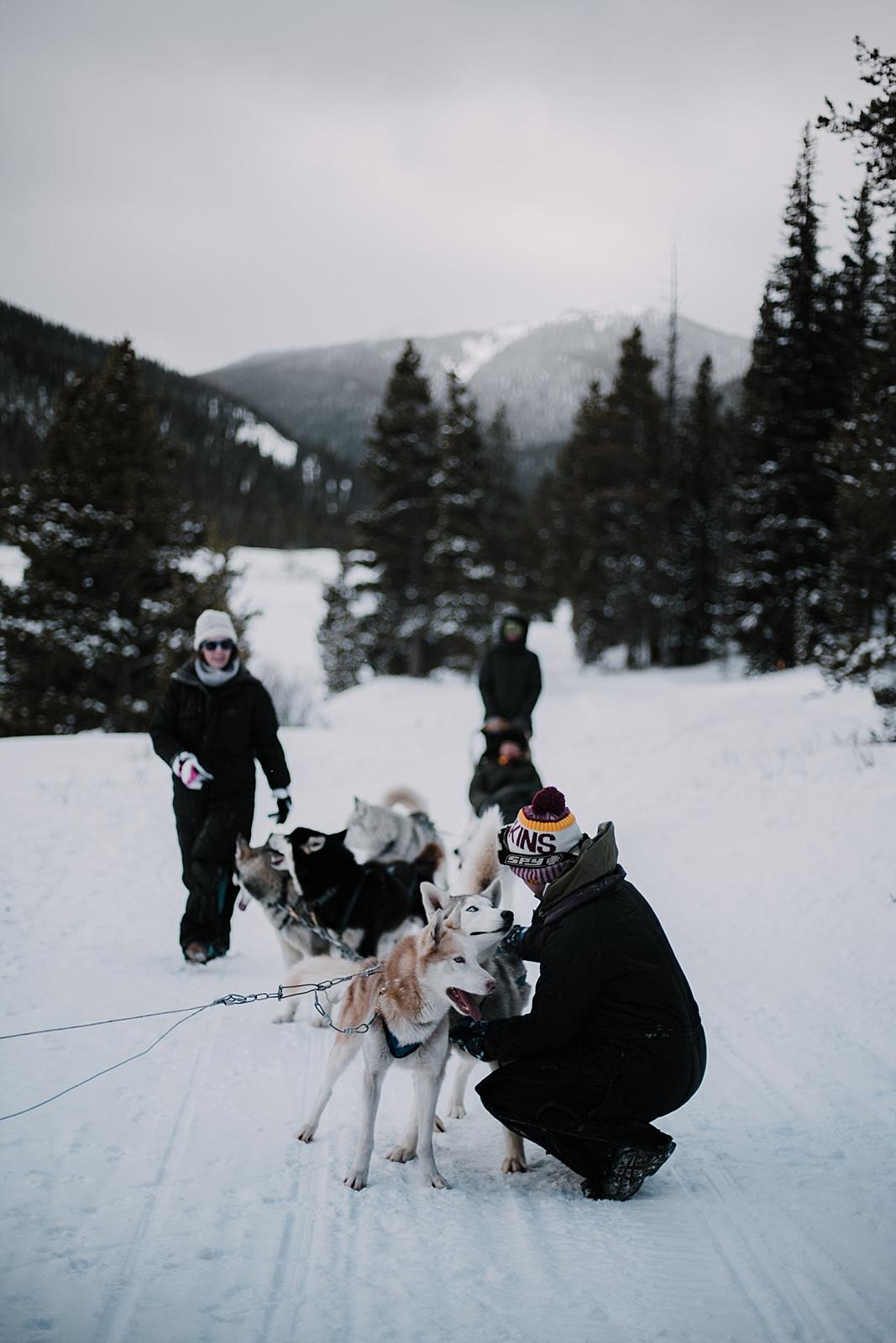 husky cuddles, breckenridge elopement photographer, alaska elopement photographer, norway elopement photographer, greenland elopement photographer