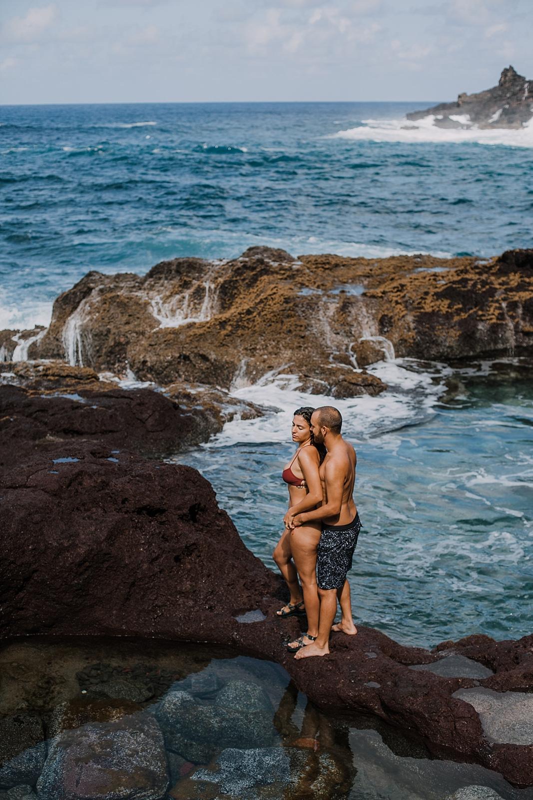 climbing in maui, maui cliffside, maui climbing, maui elopement photographer, maui wedding photographer, couple on cliffside, maui hiking, maui hawaii hiking, lahaina maui beaches, alexis russell ring