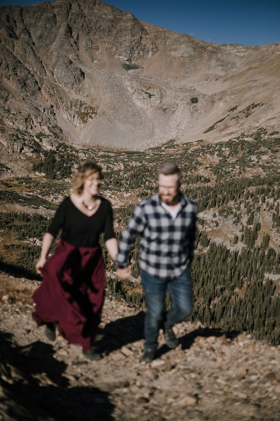 couple hiking, colorado 13er, hike little echo lake, backpacking james peak wilderness, hike james peak lake, james peak elopement, winter park elopement, backpacking winter park