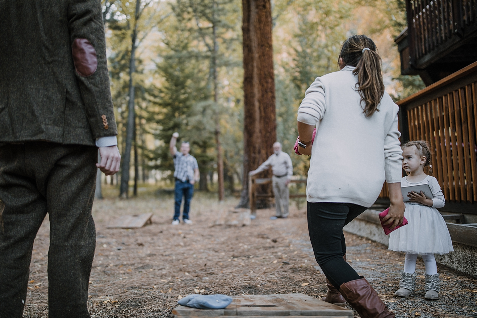 wedding yard games, couple hiking, norway elopement, post elopement celebration, wedding in the woods, buena vista elopement, buena vista wedding, nathrop colorado wedding, elope with your dog