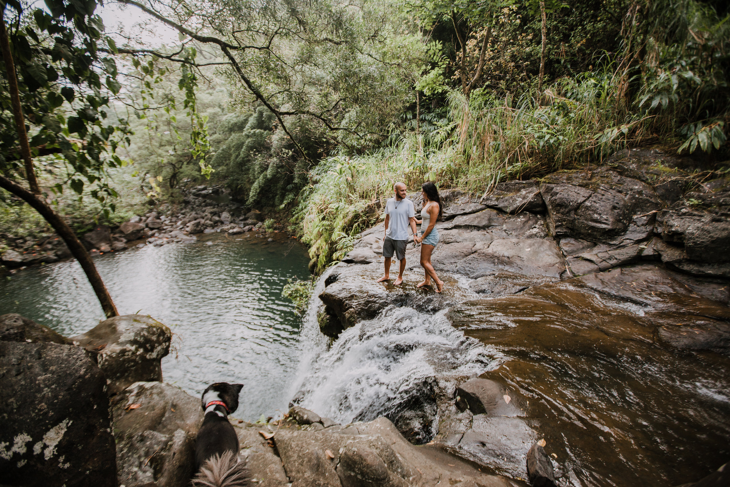 jungle couple, hawaii waterfall, road to hana, maui waterfall, hawaii wedding photographer, hawaii elopement photographer, maui wedding, maui engagements, maui elopement