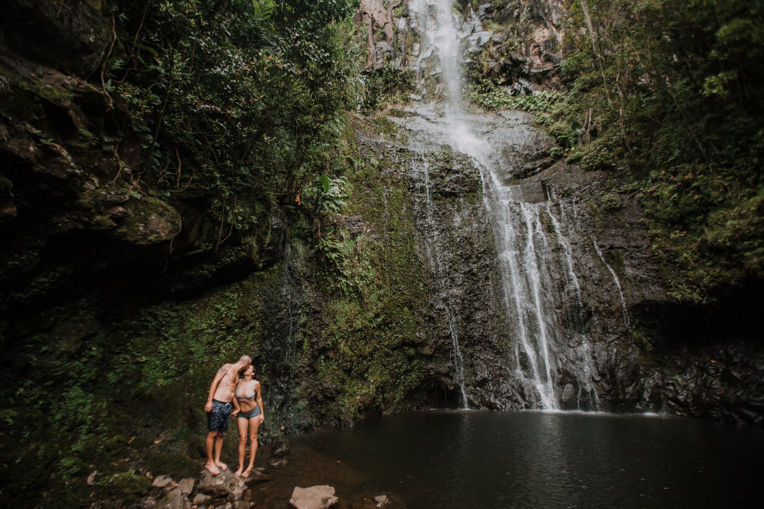 hana maui waterfall, hawaii waterfall, road to hana, maui waterfall, hawaii wedding photographer, hawaii elopement photographer, maui wedding, maui engagements, maui elopement