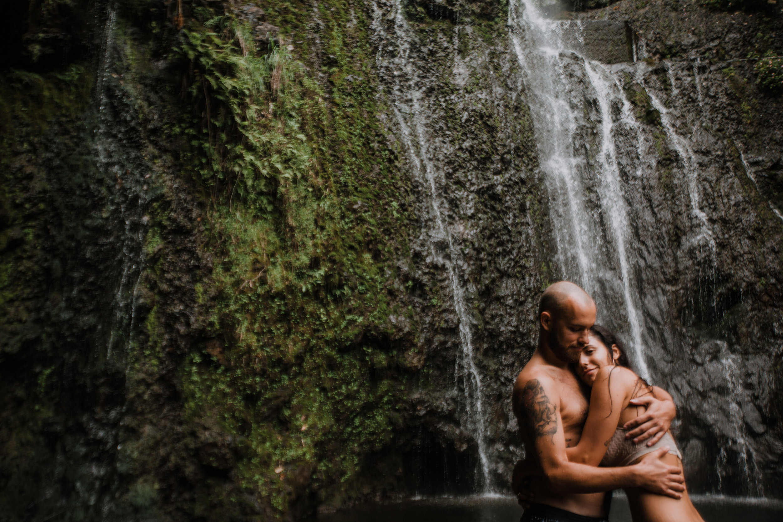 hana maui waterfall engagements, hawaii waterfall, road to hana, maui waterfall, hawaii wedding photographer, hawaii elopement photographer, maui wedding, maui engagements, maui elopement