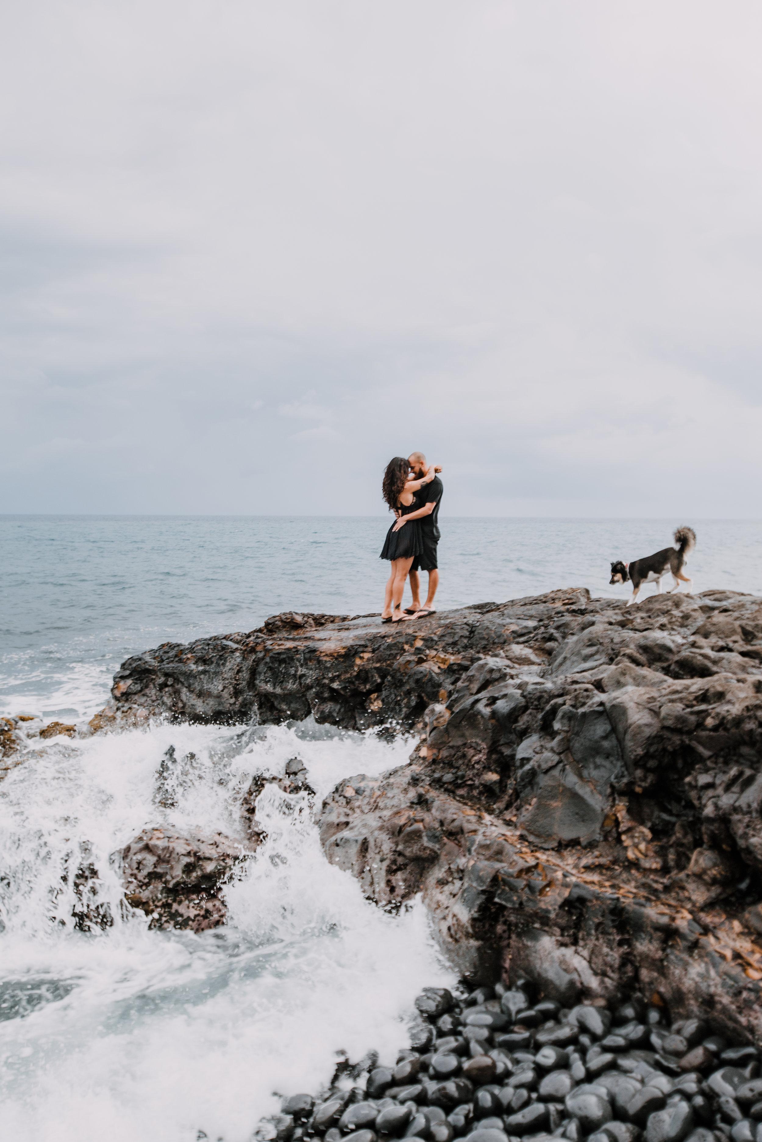 kaupo beach, hawaiian volcanic eruption, lava rock, haleakala national park, hawaii wedding photographer, hawaii elopement photographer, maui wedding, maui engagements, maui elopement