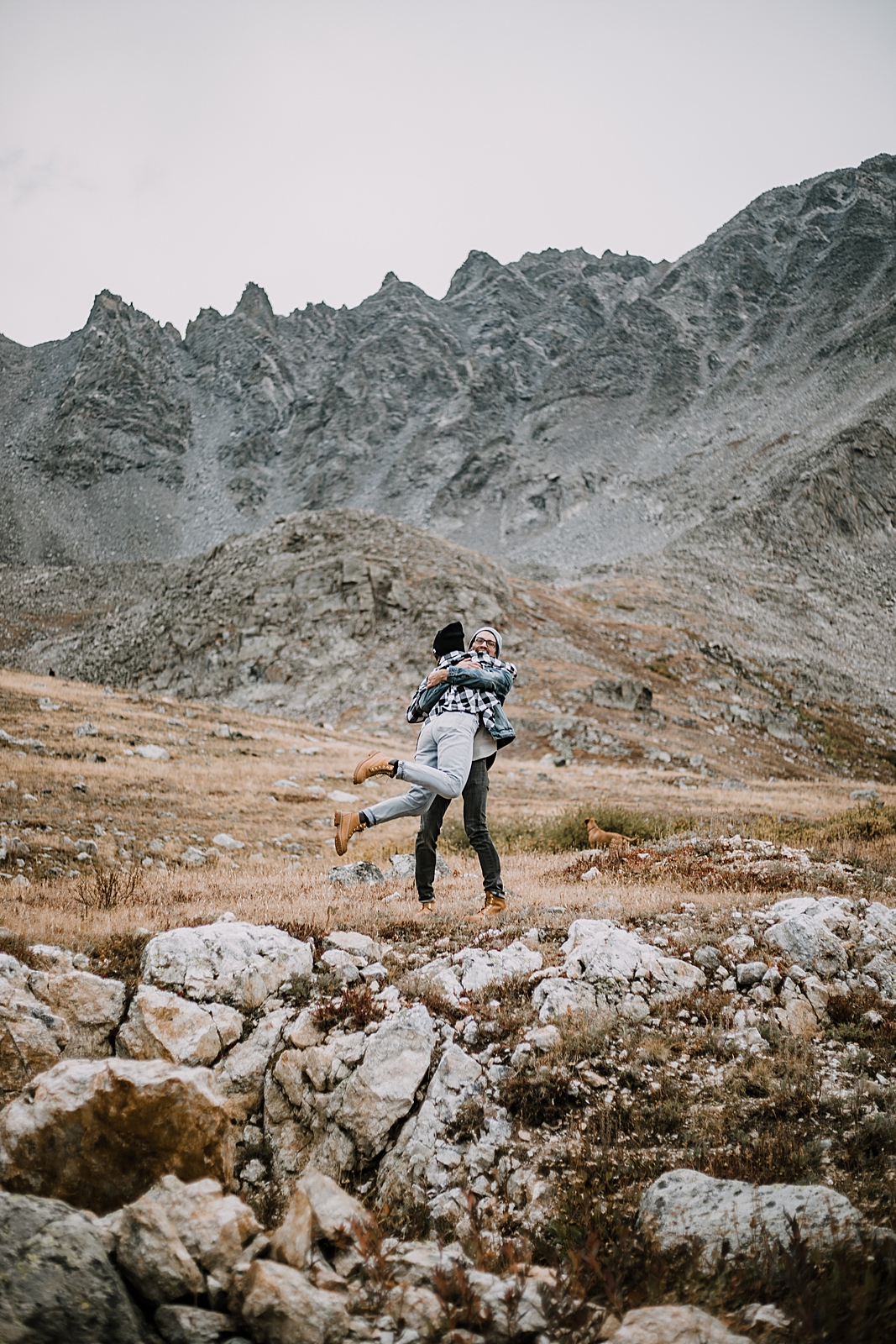 couple spinning, hike mayflower gulch, mayflower gulch proposal, mayflower gulch elopement, mayflower gulch wedding, mayflower gulch engagments, leadville elopement, leadville hiking wedding
