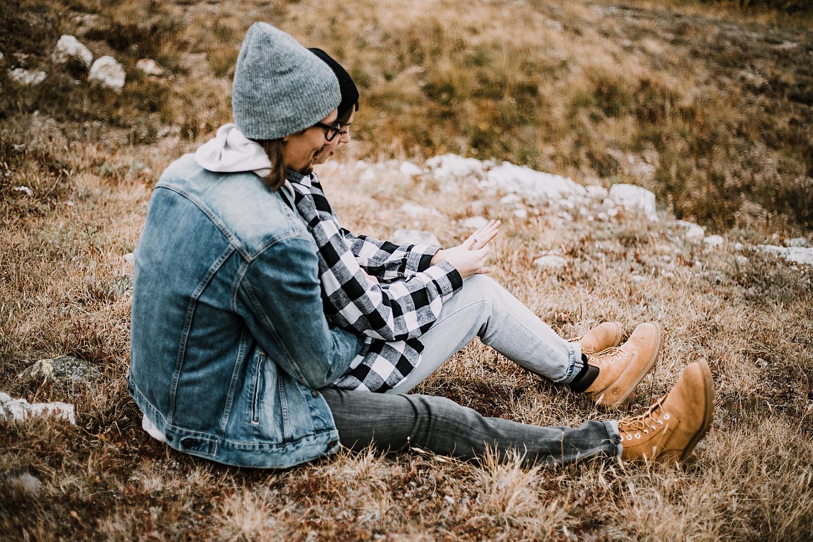 engagement ring, colorado surprise proposal, hike mayflower gulch, mayflower gulch proposal, mayflower gulch elopement, mayflower gulch wedding, colorado mountainscape, leadville elopement