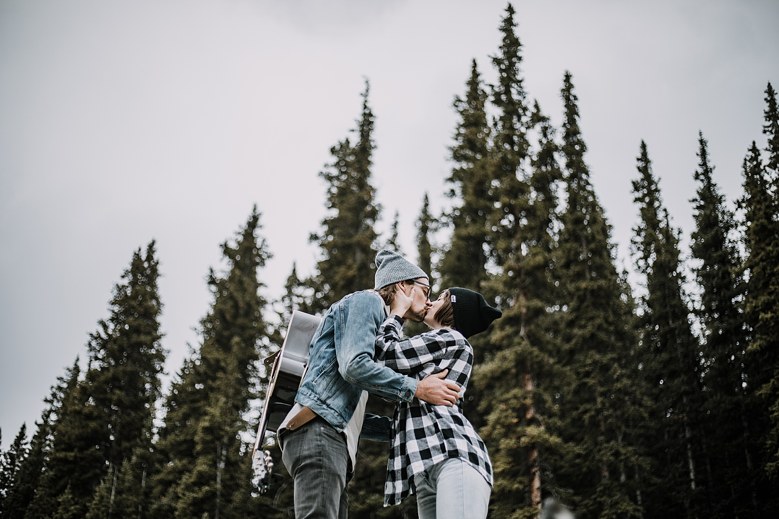 kissing on van, couple living out of a van, van life with dogs, hiking mayflower gulch, mayflower gulch elopement, mayflower gulch wedding, colorado 14er, colorado fourteener, leadville elopement