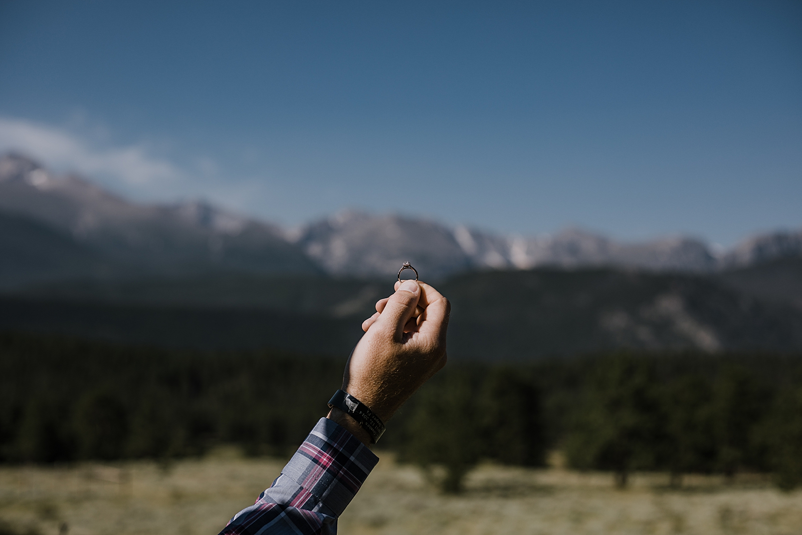 kay jewelers wedding ring, rocky mountain national park elopement, 3M curves elopement, self solemnizing, self solemnization, long's peak ceremony, hiking elopement, estes park elopement