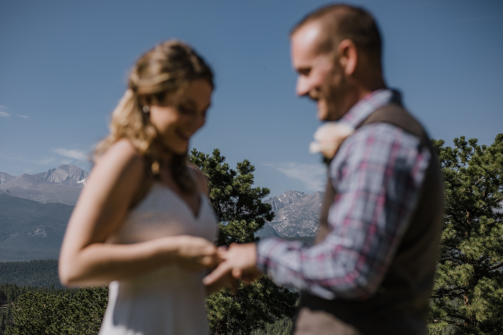 ring exchange, RMNP elopement ceremony, rocky mountain national park elopement, 3M curves elopement, self solemnizing, self solemnization, long's peak, hiking elopement, estes park elopement
