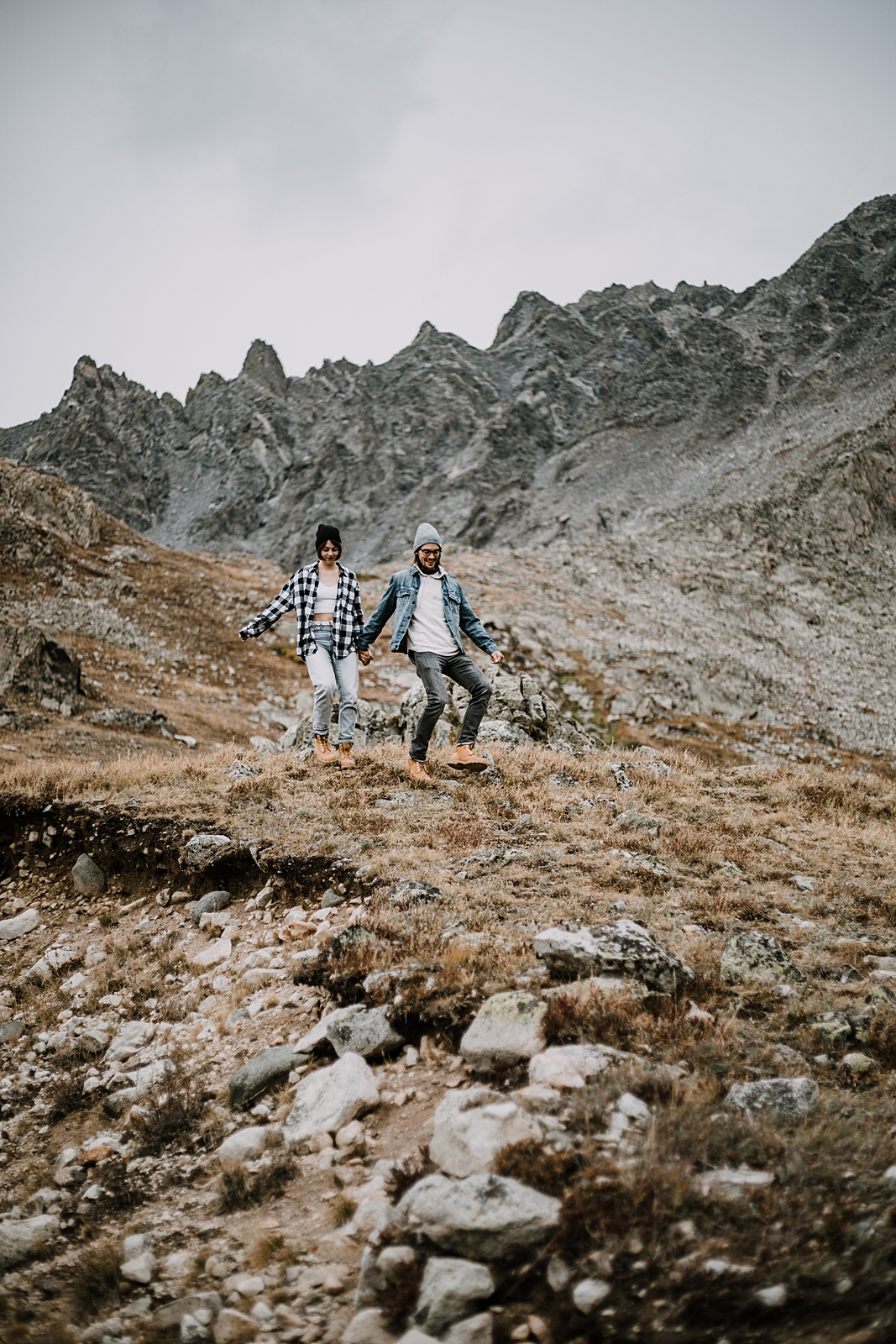 couple hiking, summer hiking mayflower gulch leadville and copper colorado, off road jeeping to mayflower gulch, sunrise at mayflower gulch, mayflower gulch engagements, leadville wedding photographer