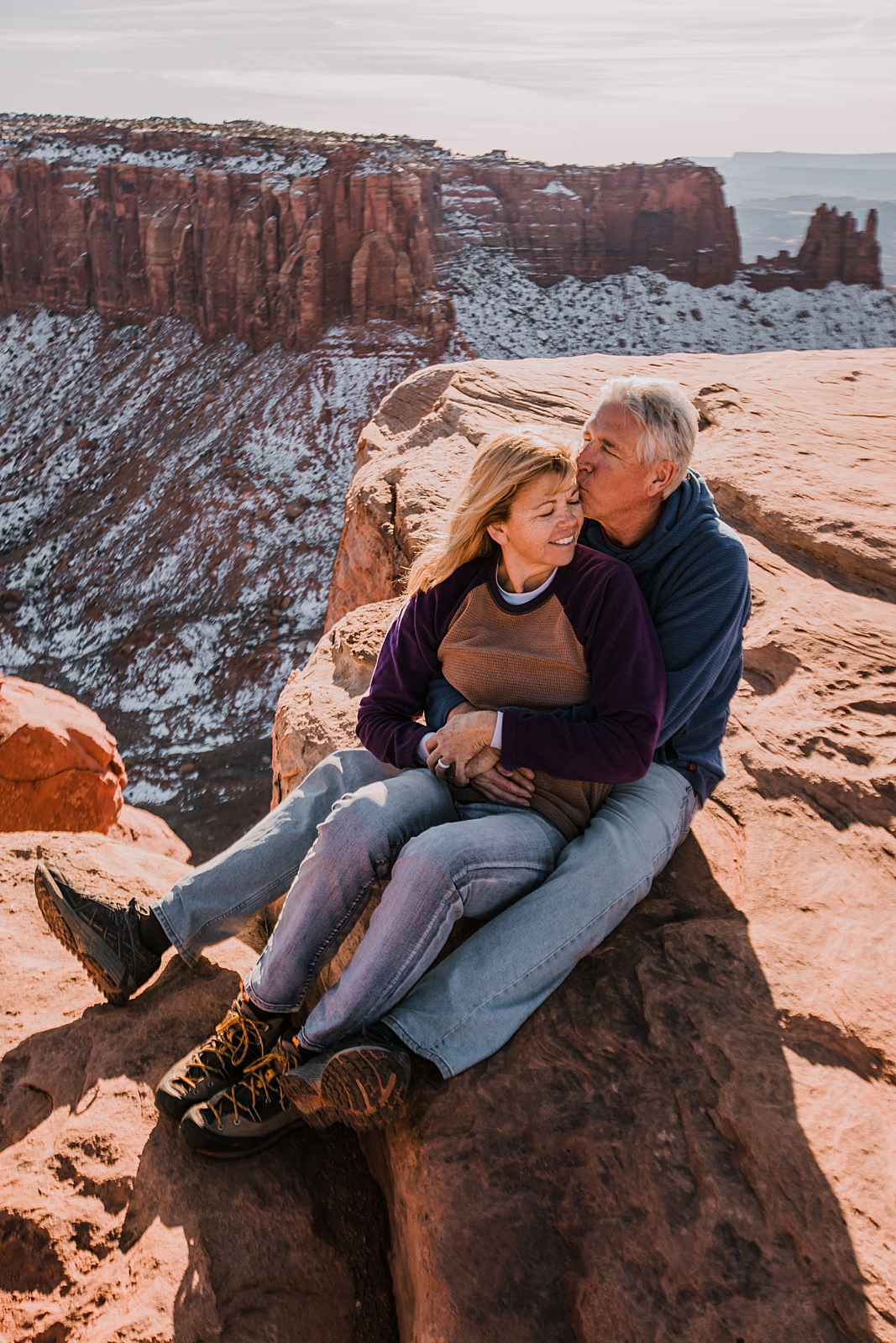 grand view point in canyonlands national park, moab utah, engagements, desert love, hiking in moab, hiking in indian creek, indian creek elopement