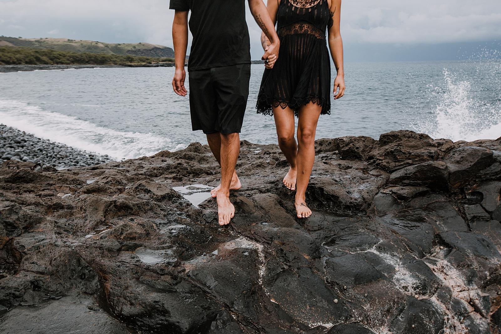 hiking kaupo on the road to hana maui hawaii, maui swimsuit engagements, hawaii waterfalls hike, hawaiian coastline, hiking the maui coast, driving the road to hana