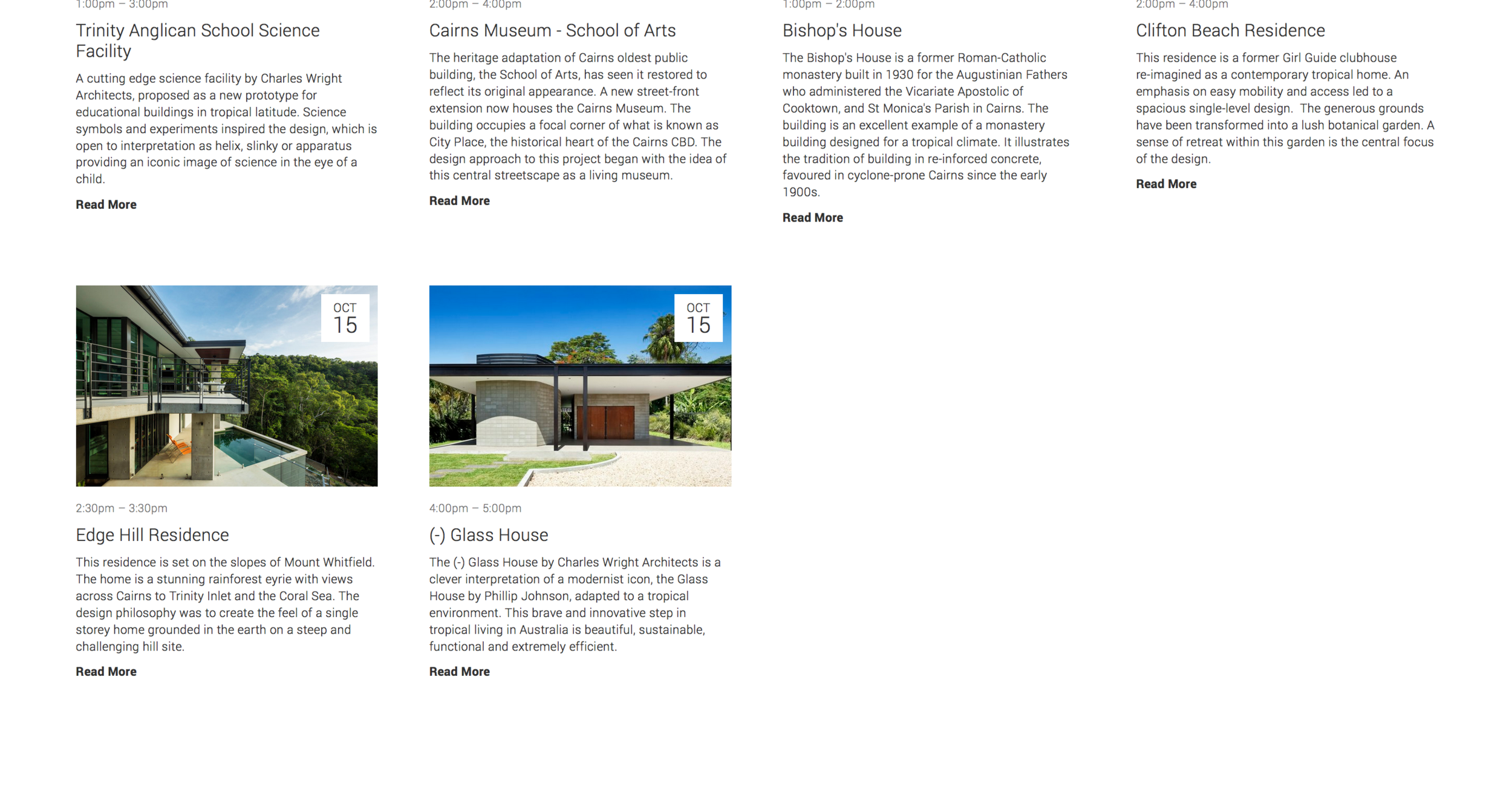 Cairns Architecture festival website 4