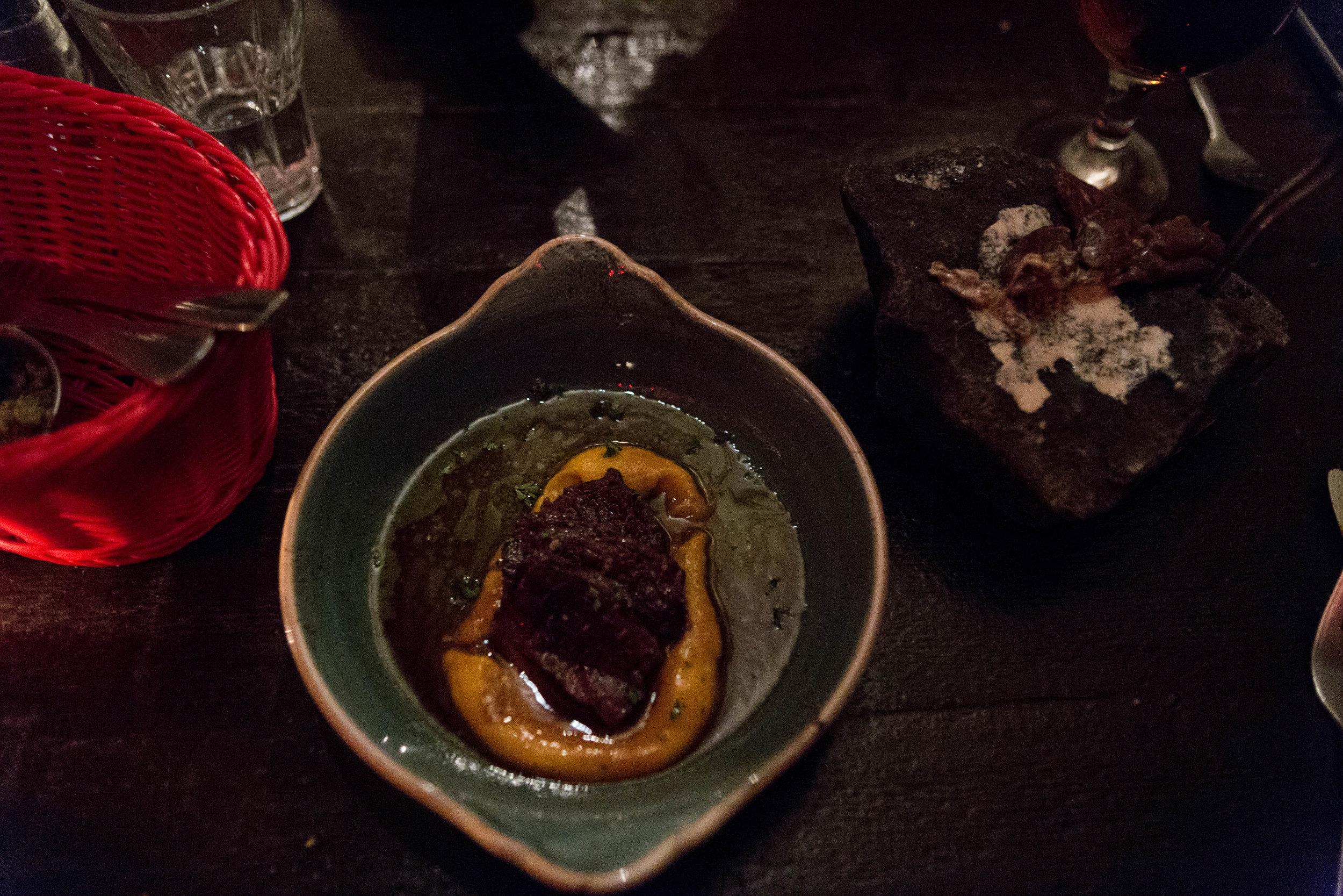 Minke Whale With Cranberry-Sauce