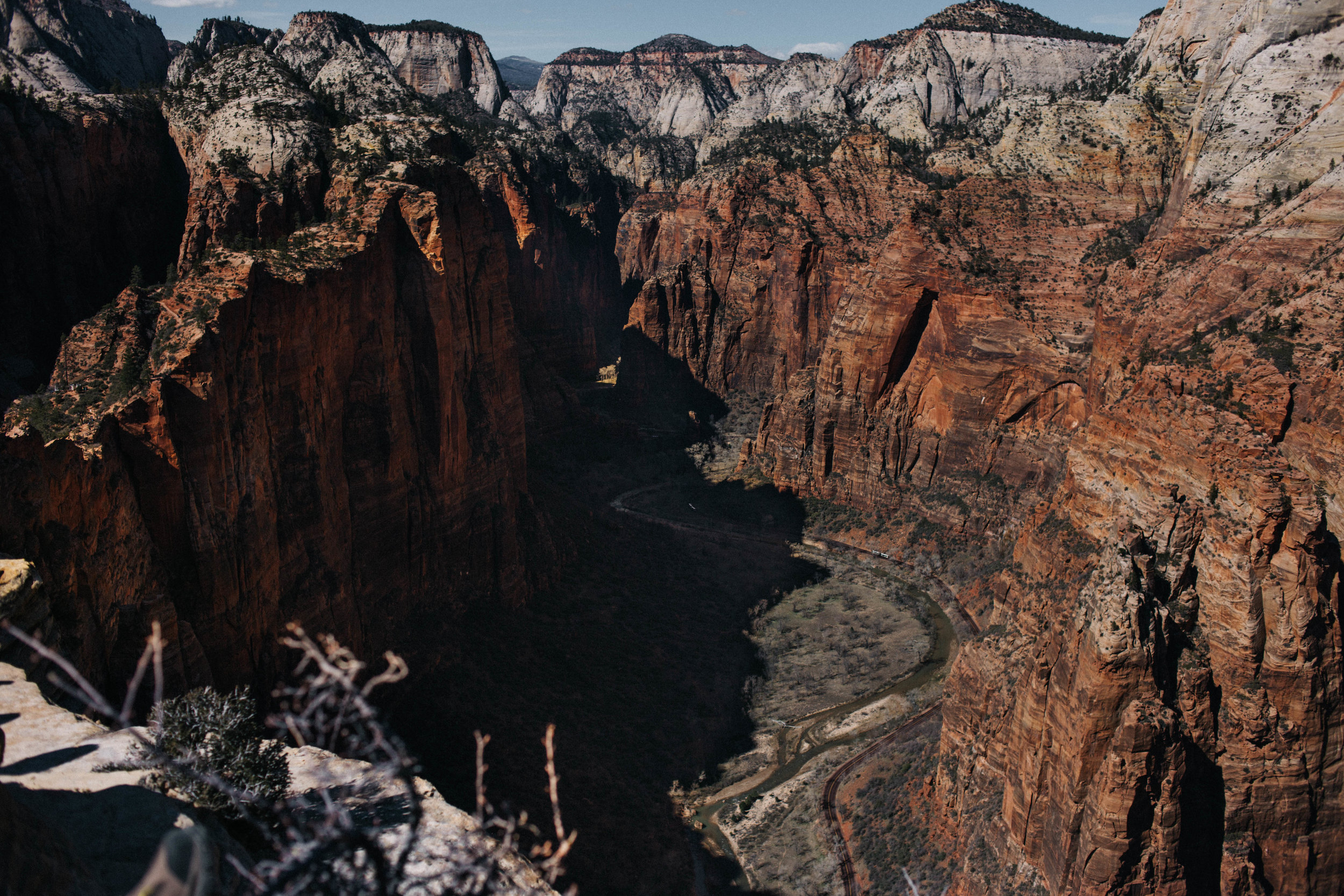 View from the top of the Angel's Landing hike