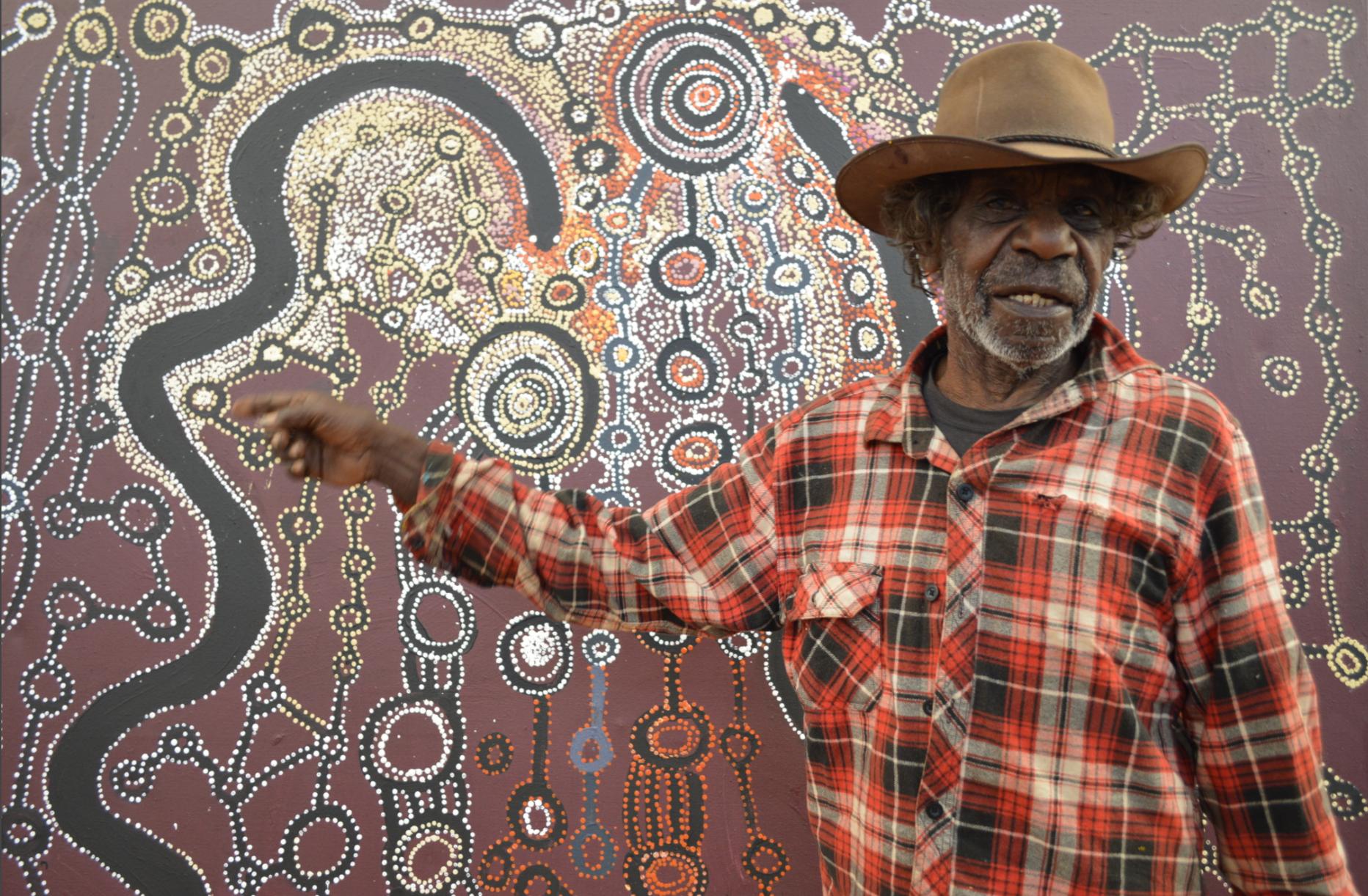 Mr Witjiti George, APY Art Centre Collective Director, Kaltjiti Arts 2016