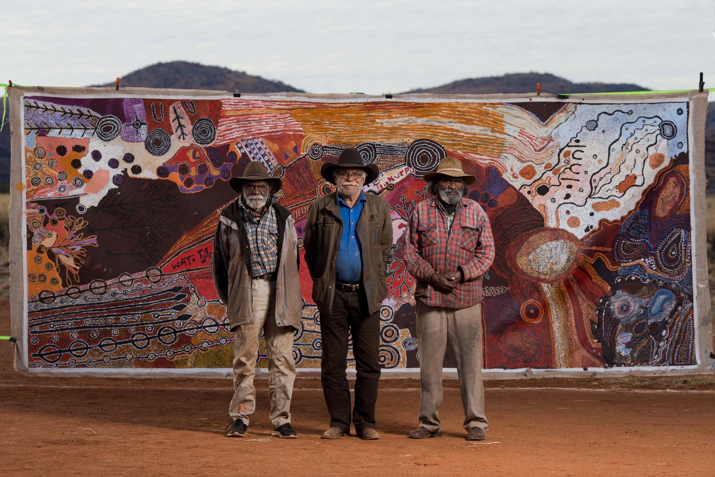 Ginger Wikilyiri, Frank Young and Keith Stevens, Nyapari Community 2017
