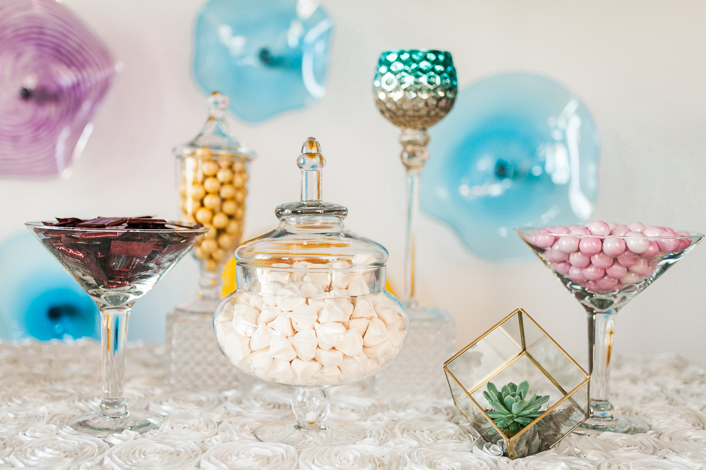 Candy Buffet at Third Degree Glass Factory Wedding
