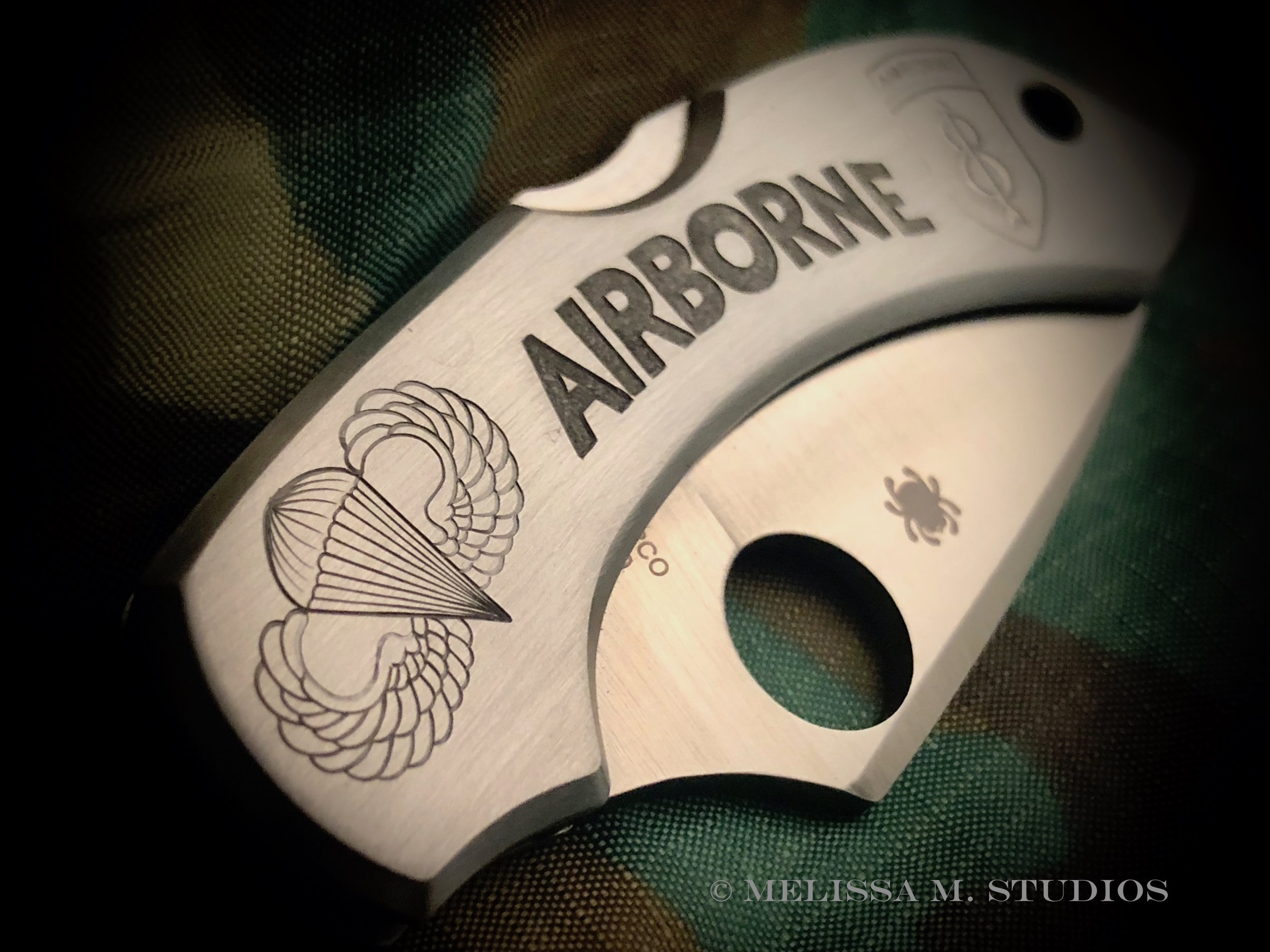 Airborne Insignia | Hand Engraved Military Knife | 81st Airborne