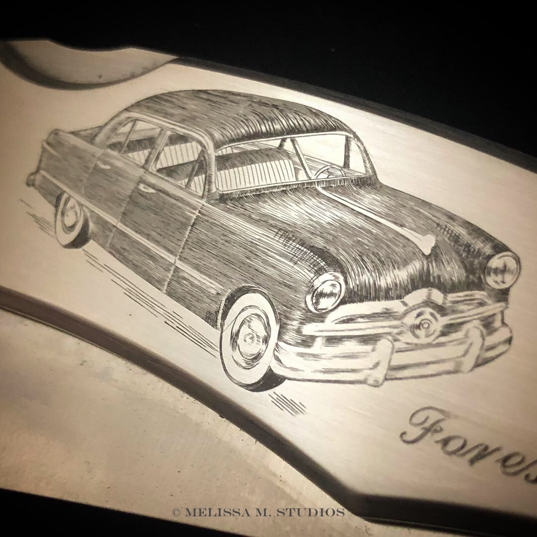 Hot Rod Engraving | Ford Shoebox