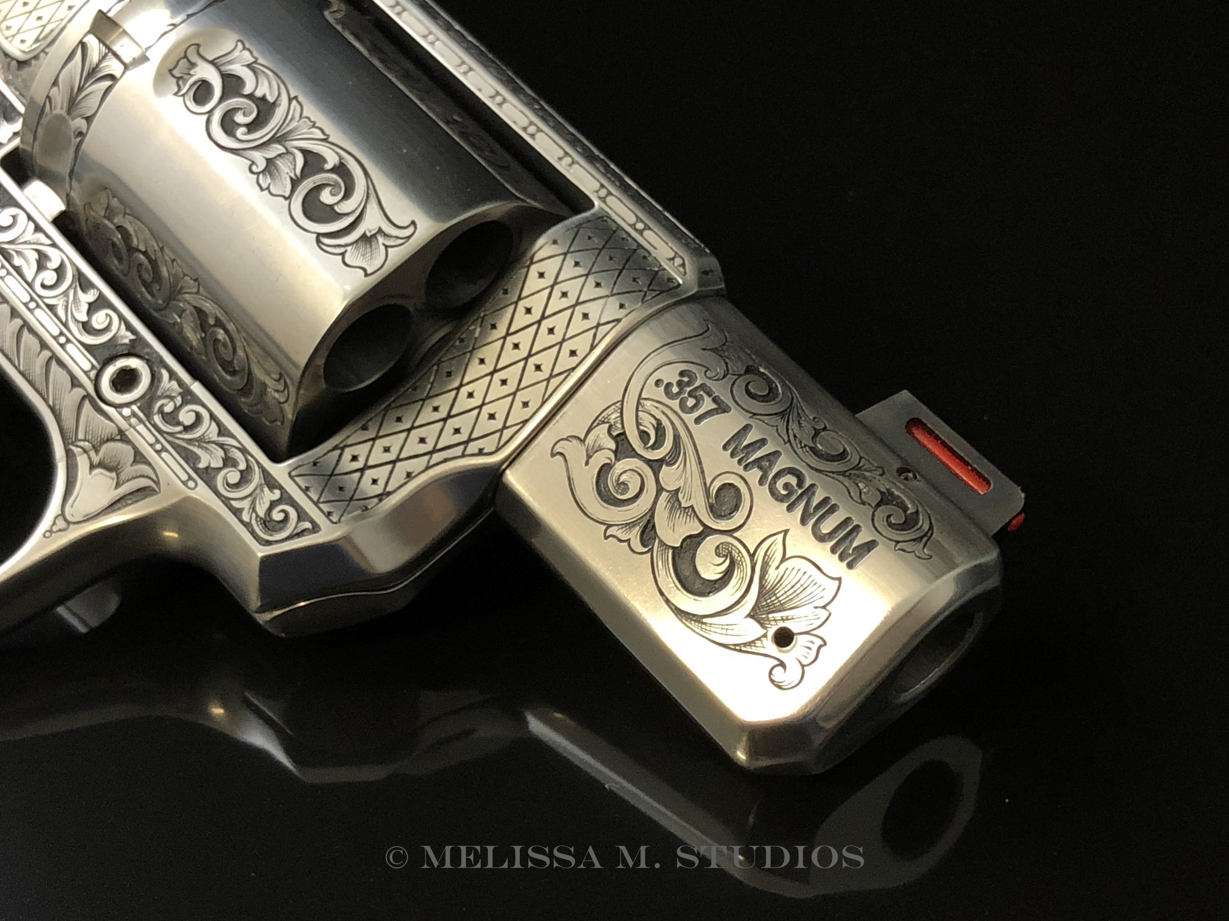 .357 Magnum Revolver Barrel Engraving