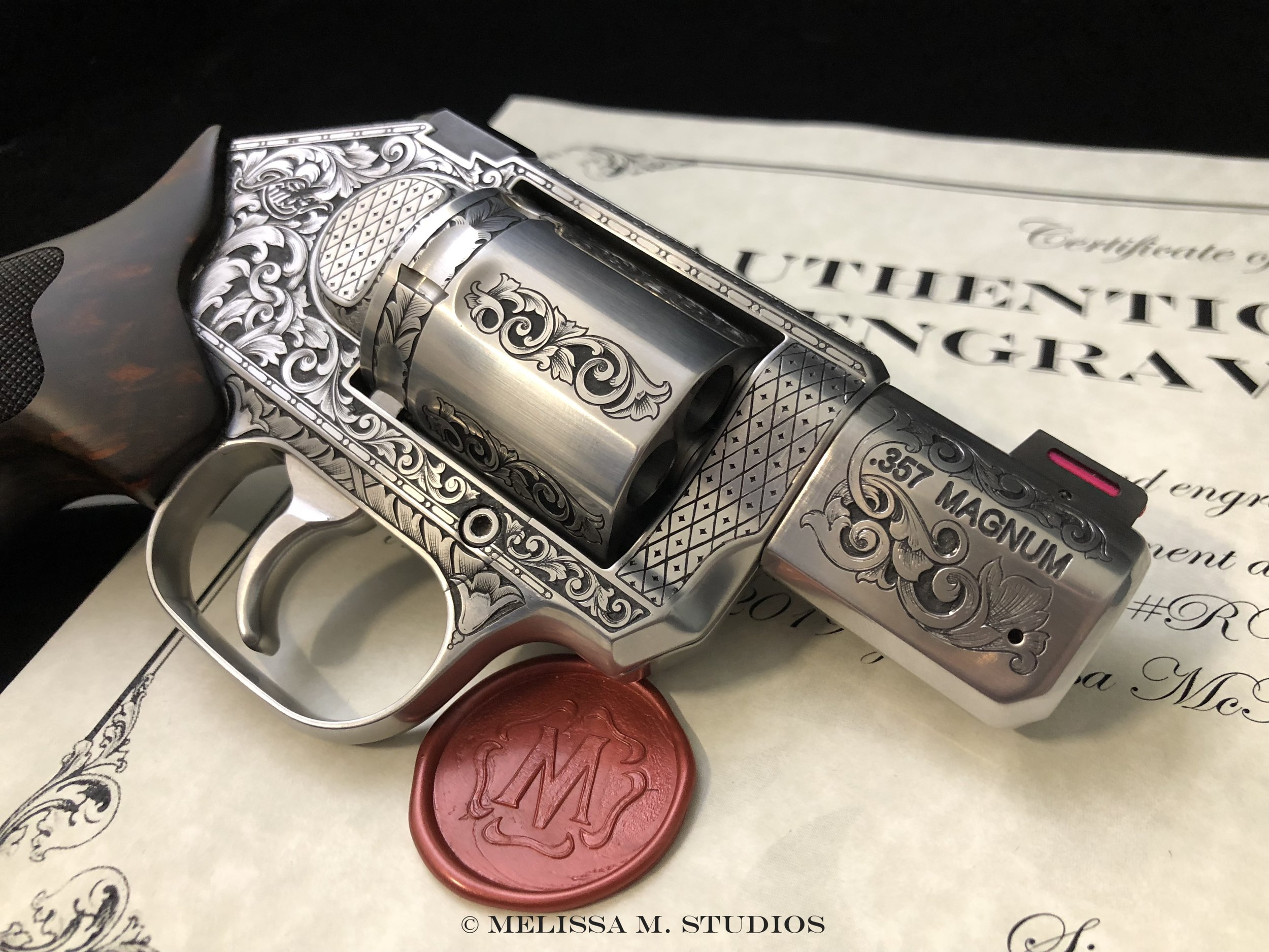 Engraved Handgun with Certificate of Authenticity