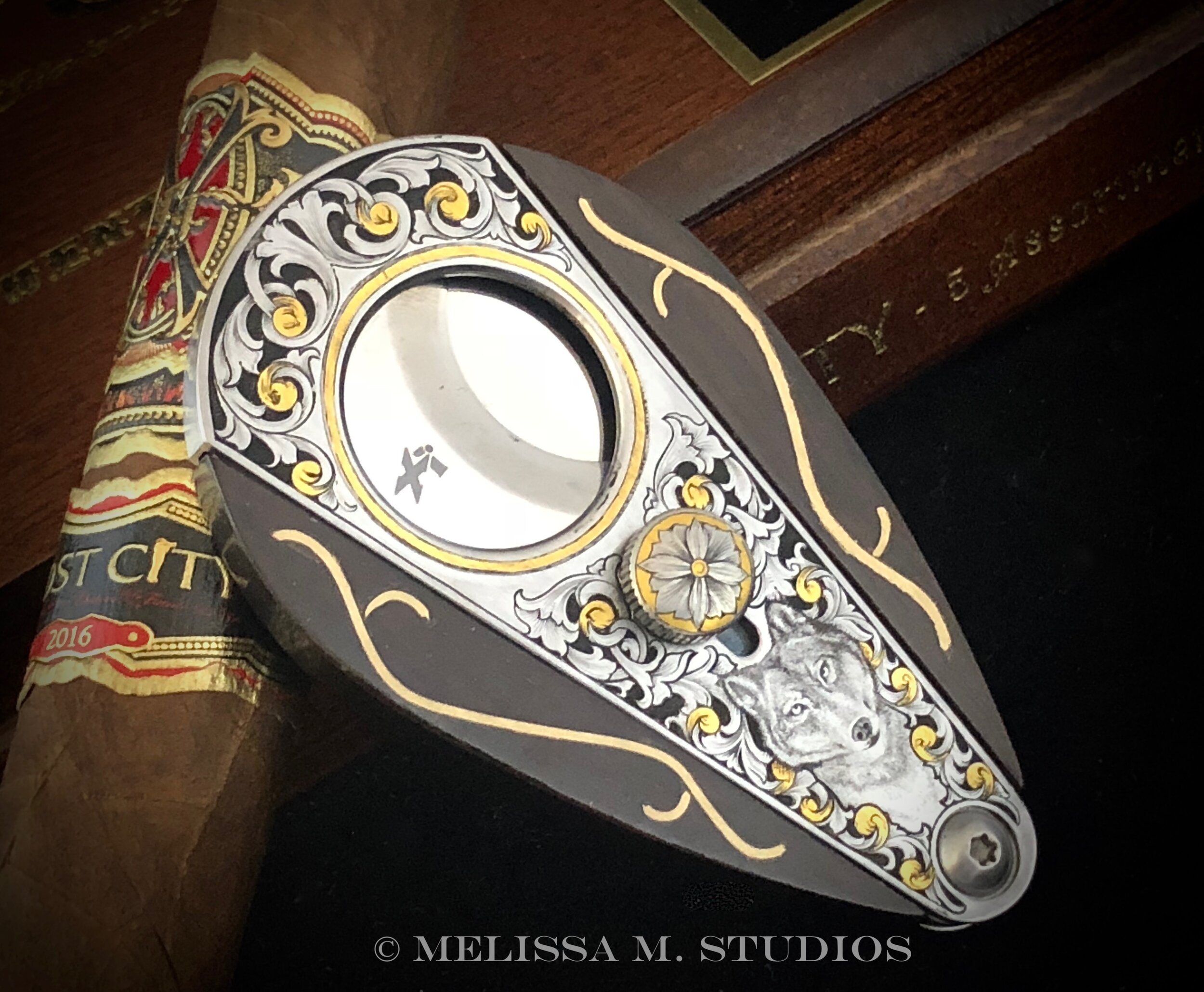 Hand Engraved Cigar Cutter