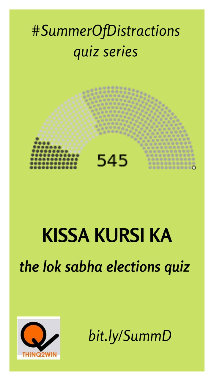 Kissa Kursi Ka Part 2: The Lok Sabha Elections Quiz - Here's how our candidates fared in this round of vote-counting:Shashank Tyagi - 39Aashish Chandorkar - 38.5Siddharth T - 38.5Sukanya Ghosh - 35.5Manas Deep - 31.5Rajiv Rai - 31.5Mayank Lal - 31Eklavya Sinha - 28.5Sanno Srivastava - 27Dipankar Goswami - 23Tanuj Bakshi - 20.5Arjuna Srinidhi - 18Kaushik - 16Girish Suranje - 11