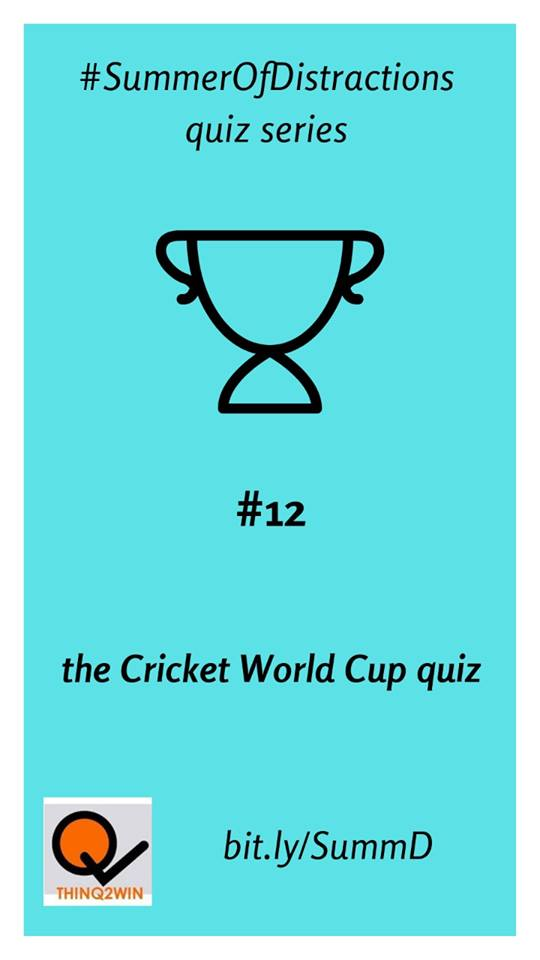 The Cricket World Cup Quiz - The final standings:Manas Deep - 36.5Sukanya Ghosh - 35.5Amartya Saha - 33Aniket Dass - 28Udbhav Krishnamani - 27Anubhav Chatterjee - 23Rahul Raghavan - 20.5Amol Joshi - 19
