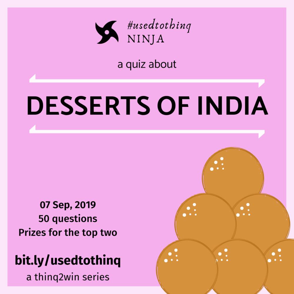 #usedtothinq Ninja: Desserts of India - Here are the participant stats with the overall points they scored.Abhijit Bhalachandra - 48Pranav - 42Ashvini Natu - 41.5Anuradha Dharwadkar - 29.5Shaun Thomas - 12