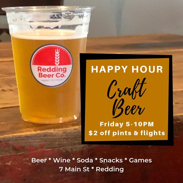 Want $2 off your beer? Visit us for $2 off pints and flights today for Happy Hour, from 5-10PM.  We're an artisan microbrewery and brew some pretty great craft beer, right here in Redding.  Friday: 5-10PM Happy Hour Saturday: 2-6PM (Closing early for a private party) Sunday 2-7PM  We have beer, wine, soda, snacks and games, we have a casual and comfortable setting, bring your kids, even your dog! (Leashed and well-behaved pets always welcome.) BYOFood or takeout or even have something delivered and pair it here, with our beer! You can even fill some growlers and enjoy your beer at home or an event!  #craftbeer #ctbeer #ctbeerdrinkers #ctbeertrail #redding #reddingct #ridgefield #ridgefieldct #wilton #ctvisit #familyfriendly #dogfriendly #pintsandflights #growlerfills #ipa #craftbrewery