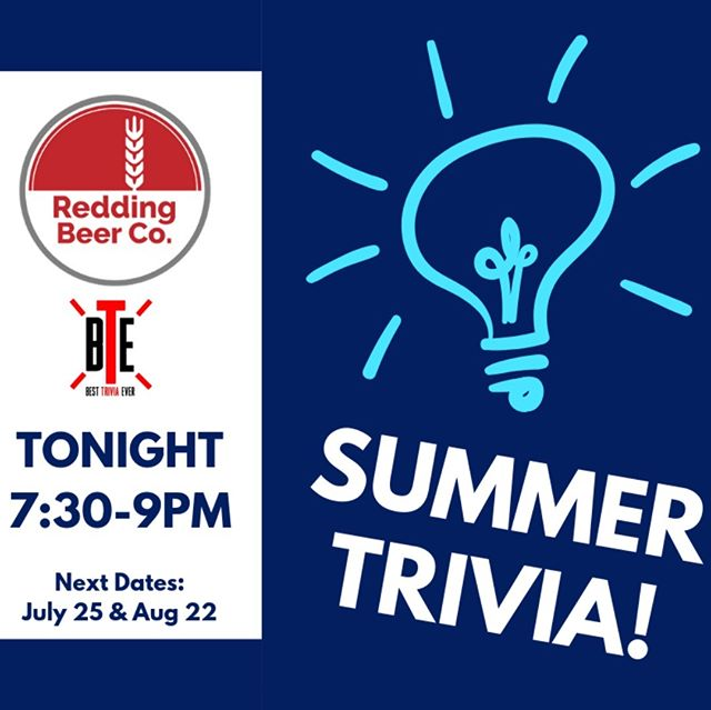 Trivia night is tonight! How big is your knowledge? It's our first night of Summer Series with Best Trivia Ever, it's free to play — so get yourself here or form a team and prove your mastery of useless stuff! We've got beer, wine, soda and snacks, doors open at 5PM and Trivia starts at 7:30!  #trivianight #reddingdrinks #drinklocal #ctbeertrail #ctbeer #ridgefield #redding #craftbeer #pubtrivia #besttriviaever
