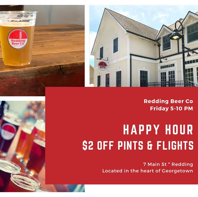$2 off pints and flights today for Happy Hour! That means pints are only $5 and our 4-glass flights are just $6!  Brewed on-site, we're an artisan microbrewery that features classic European styles and American favorites.  Friday: 5-10PM - Happy Hour  Saturday: 2-10PM Sunday: 2-7PM Wed-Thu-Fri: 5-10PM  #craftbeer #ctbeer #ctbeertrail #ctbrewery #microbrewery #reddingct #redding #ridgefield #ridgefieldct #happyhour #wilton #georgetown #growlerfills #beer #craftbeercommunity