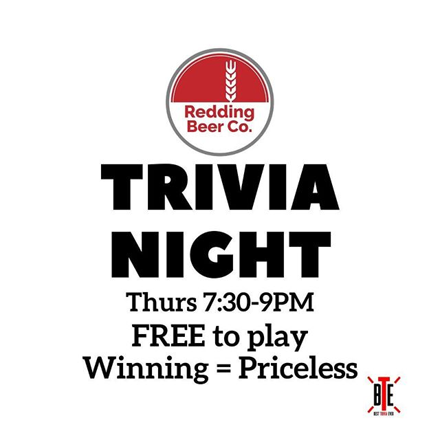 Trivia Night is on Thursday - come on down and see if you really do know the most random things! It's FREE to play, have fun, laugh, drink some great craft beer and maybe go home with some bragging rights. Trivia is 7:30-9PM, doors open at 5PM. Game on! #ctbeer #ctbeertrail #ctbreweries #thursdaytrivia #reddingct #ridgefieldct #wiltonct #westonct #norwalkct #norwalkct #westportct #smarterthanyou