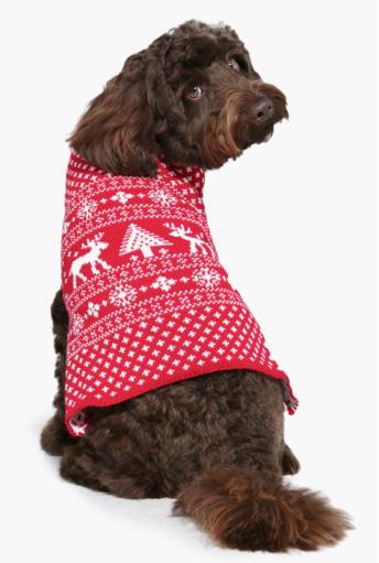 Fairisle Christmas Dog Jumper, £9.00