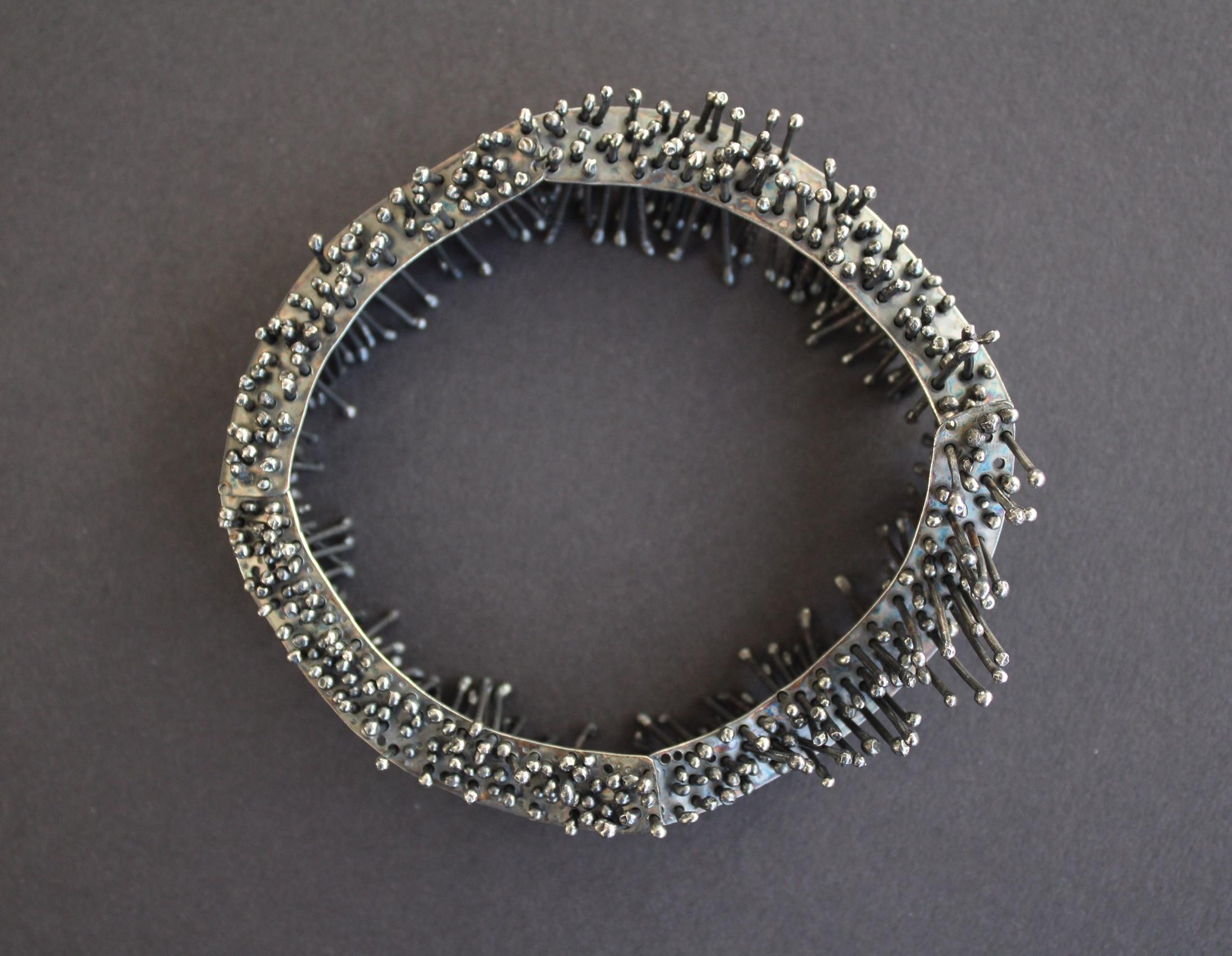 Oxidised Silver Bangle