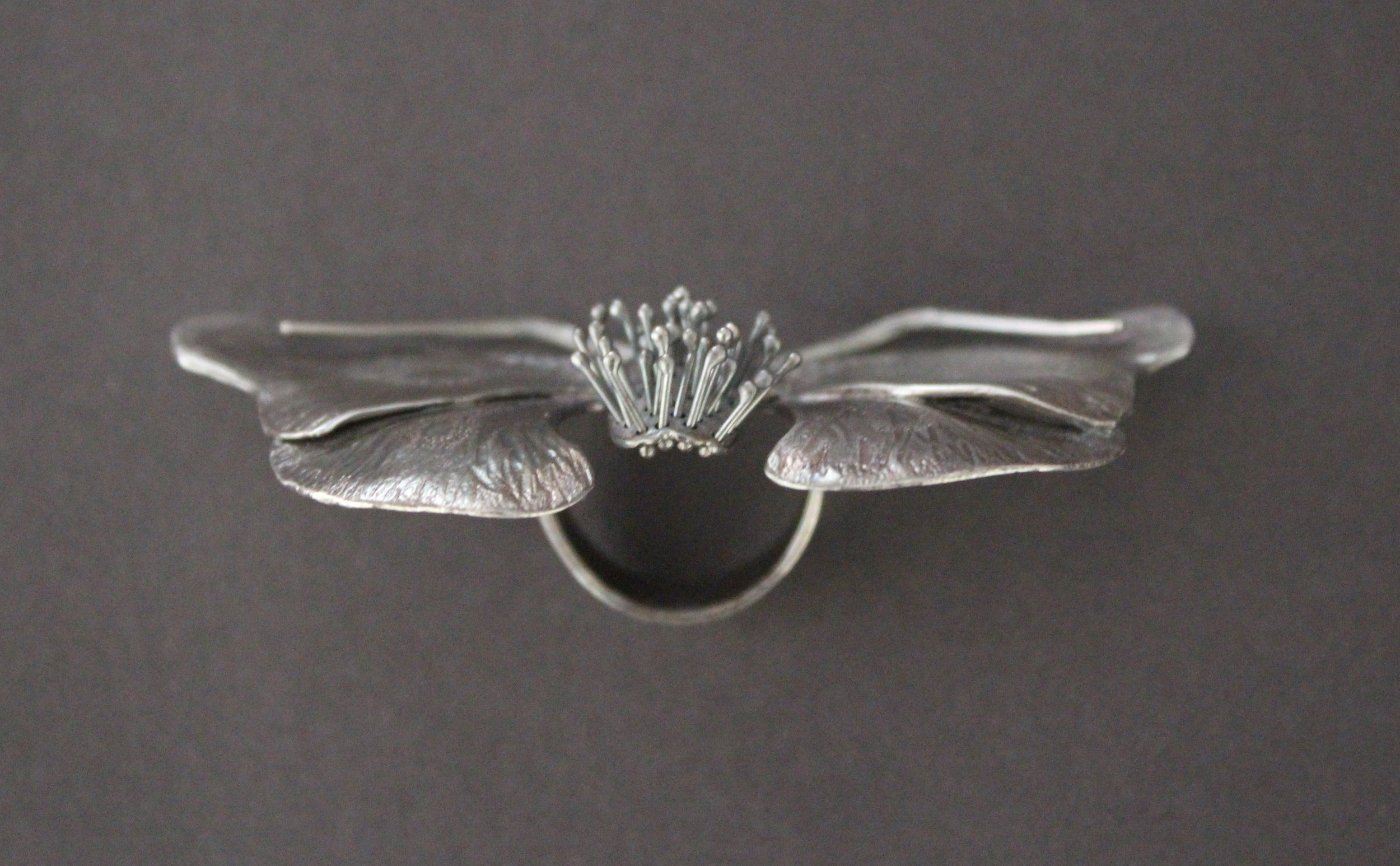 Goth Moth Ring