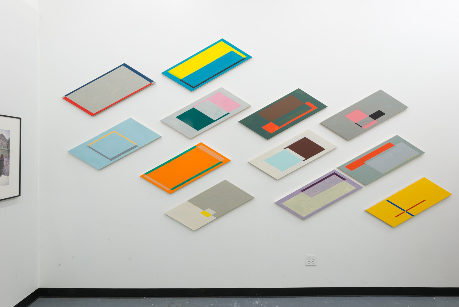 Installation view of Diagram series