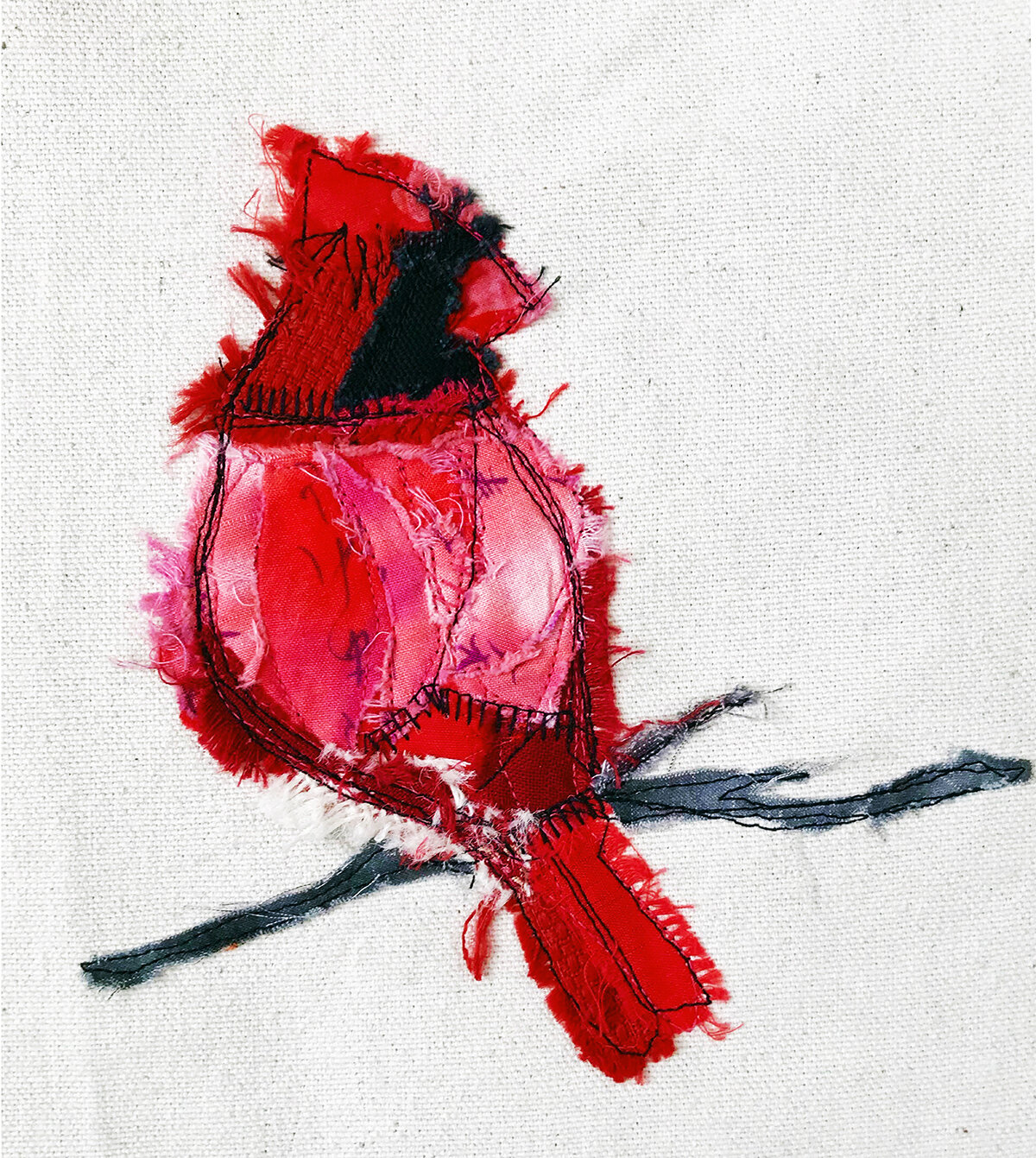 Lori Jakubow, _Crimson_, Fabric collage.jpg