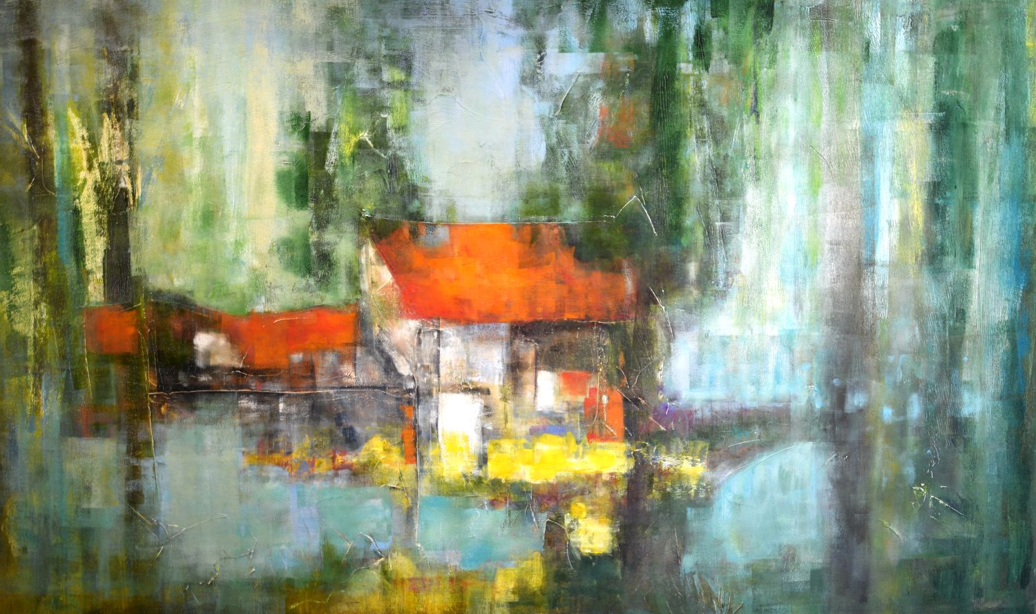 Collecting Colors: 60x36 (SOLD)