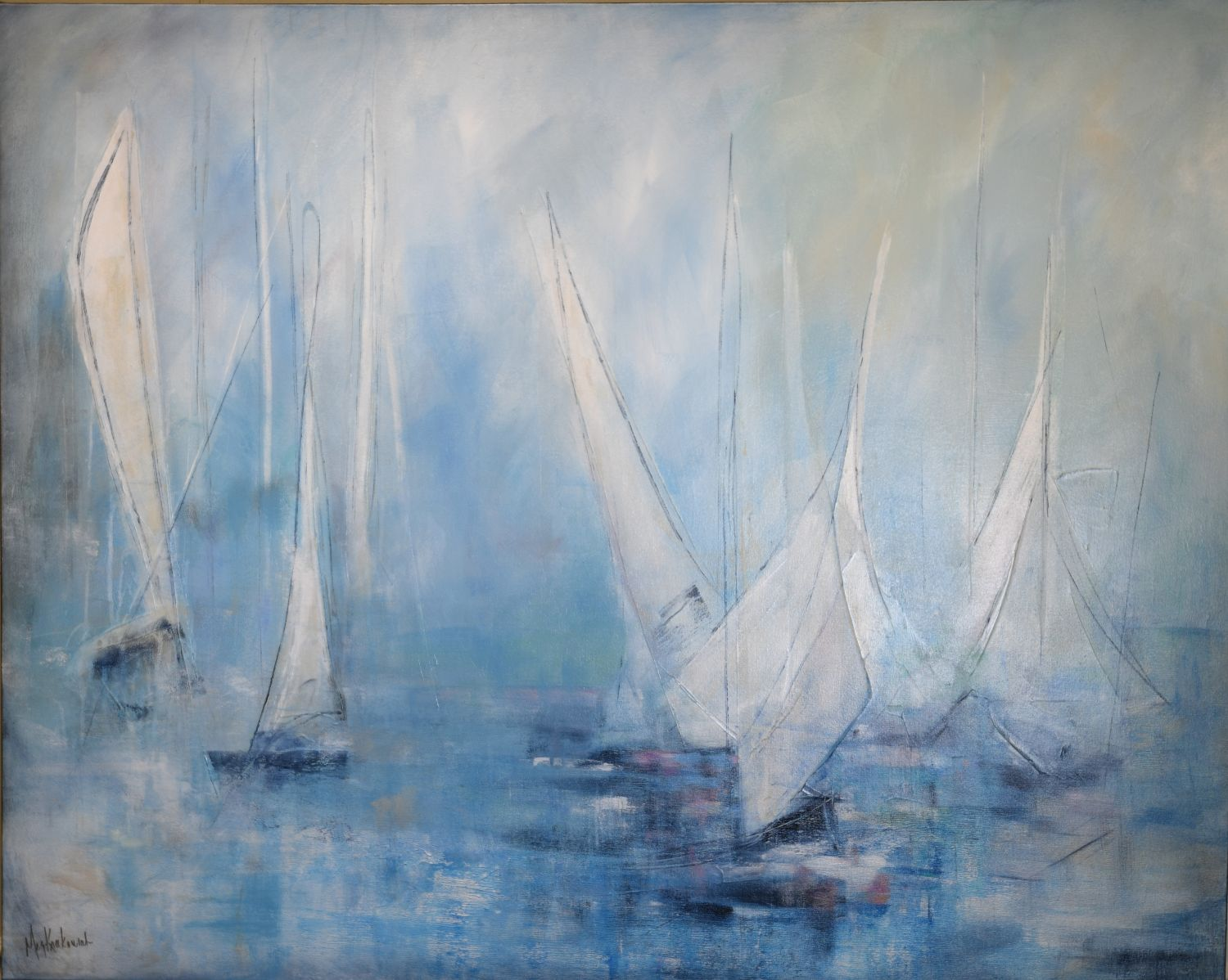 Blooming Sails: 60x48
