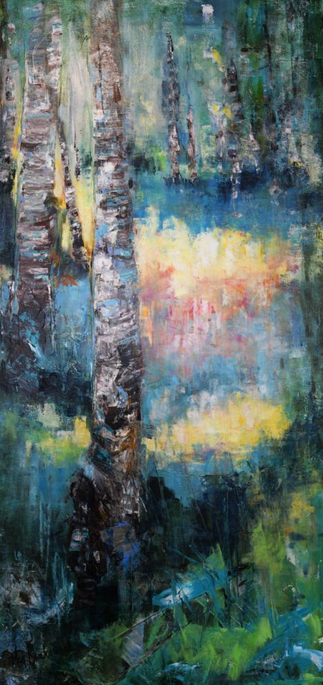 A Path of Many Colors: 24x48 (SOLD)